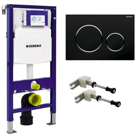 Geberit DUOFIX WC Frame 1.12m Dual Flush Cistern Frame UP320 Sigma20 Black Plate