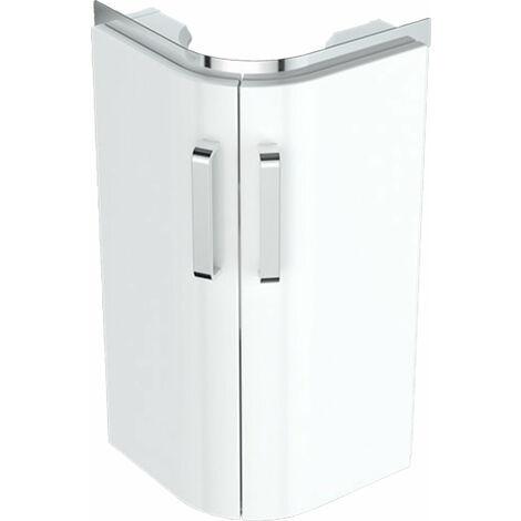 Geberit Eck Lave-mains lavabo Meuble sous-lavabo Renova Nr. 1 Comprimo New 300x605x300mm blanc mat/brillant blanc brillant - 862132000