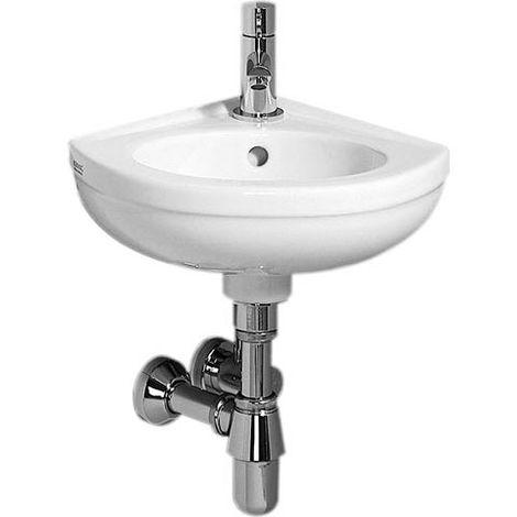 Geberit Fidelio esquinero lavabo de esquina longitud de la pierna 27cm, color: Blanco - 274025000