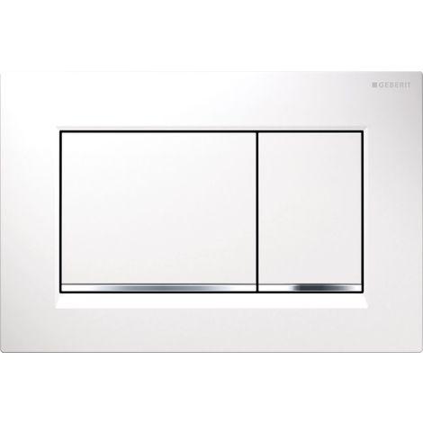 Geberit flush plate Sigma30 for dual flush, gloss chrome / matt chrome / gloss chrome (115.883.KH.1)