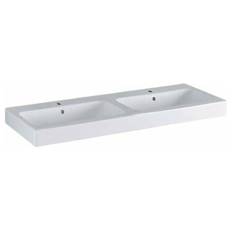 Geberit iCon double lavabo 120x48,5cm blanc, 124120, Coloris: Blanc - 124120000