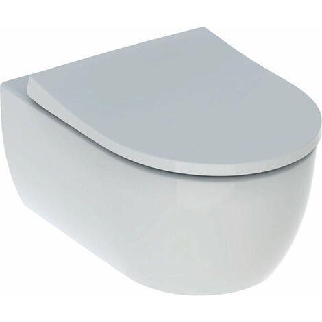 Geberit iCon Set Wand-WC, spülrandlos, inkl. WC-Sitz, weiß - 500.784.01.1