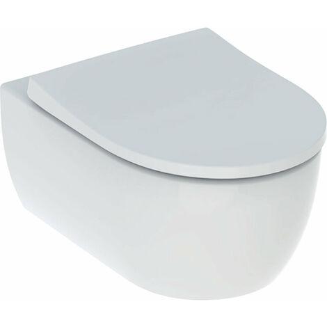 Geberit iCon Set WC mural, sans bord de chasse, avec siège de WC, blanc - 500.784.01.1