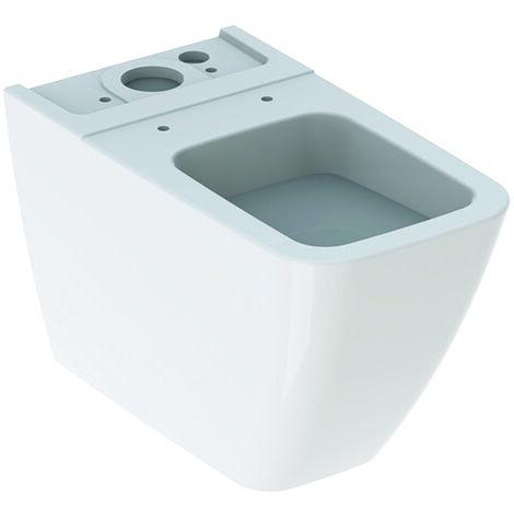 Geberit iCon Square Stand-WC für AP-Spülkasten aufgesetzt, 200920, tiefspüler, wandbündig, Farbe: Weiß, mit KeraTect - 200920600