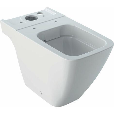 Geberit iCon Square Stand-WC rimfree, für AP-Spülkasten aufgesetzt, 200930, Tiefspüler, geschlossene Form, weiß, Farbe: Weiß, mit KeraTect - 200930600