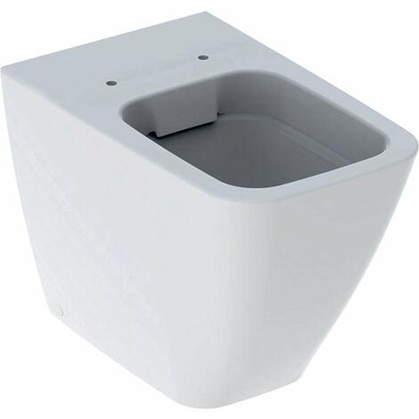 Geberit iCon Square Stand-WC Tiefspüler, wandbündig 211910, 6l, spülrandlos, geschlossene Form, Farbe: Weiß, mit KeraTect - 211910600
