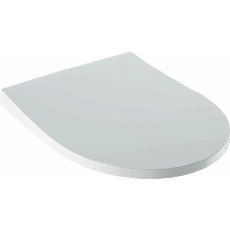 Geberit iCon WC-Sitz Slim mit Deckel, Wrap over, antibakteriell, mit Absenkautomatik, weiß, schmales Design - 500.835.01.1