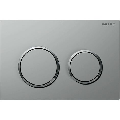 Geberit Kappa 21 Dual Push Button Flush Plate WC Concealed Cistern Gloss Chrome