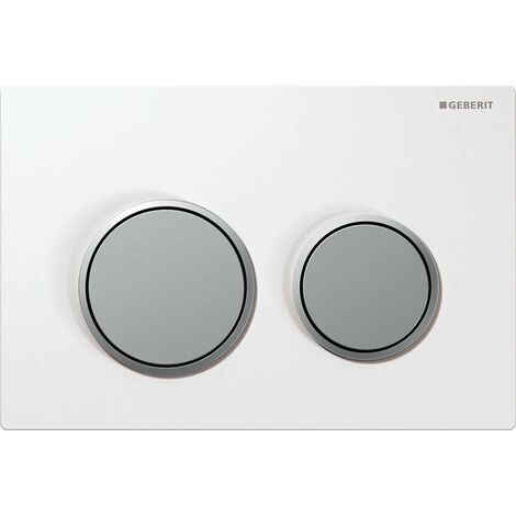 Geberit Kappa 21 Dual Push Button Flush Plate WC Concealed Cistern White/Chrome