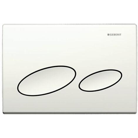 Geberit Kappa20 Dual Flush Plate, Matt Chrome