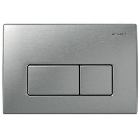 Geberit Kappa50 Dual Flush Plate - Brushed Stainless Steel