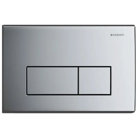 Geberit Kappa50 Dual Flush Plate - Gloss Chrome