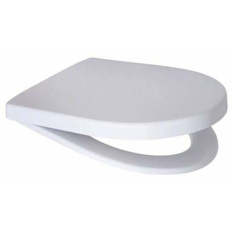 Geberit (Keramag) iCon WC-Sitz weiß, Scharniere Messing verchromt mit Absenkautomatik 574130000