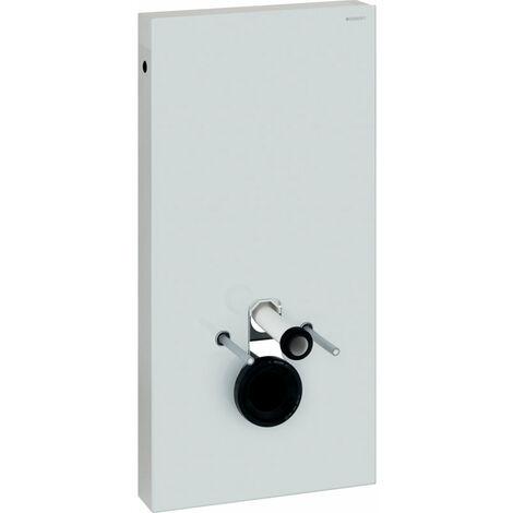 Geberit Modulo sanitario Monolith per WC a parete, 101cm, attacco acqua laterale, con elemento di collegamento, colorazione: Vetro Bianco - 131.022.SI.5
