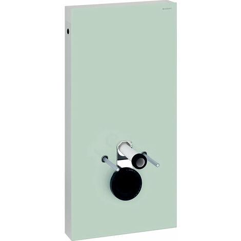 Geberit Modulo sanitario Monolith per WC a parete, 101cm, attacco acqua laterale, con elemento di collegamento, colorazione: Vetro menta - 131.022.SL.5