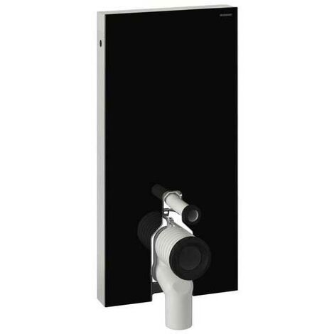 Geberit Monolith Back to Wall Cistern Frame for Floor Standing WC with Fittings - Black Glass