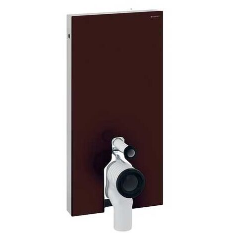 Geberit Monolith Back to Wall Cistern Frame for Floor Standing WC with Fittings - Umber Glass