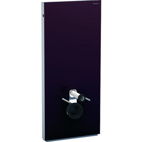 Geberit Monolith Sanitärmodul für Wand-WC, 114cm, Wasseranschluss hinten mittig, mit Anschlussstutzen, Farbe: Glas umbra - 131.031.SQ.5