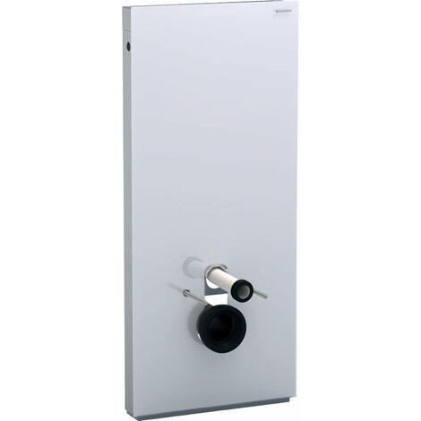 Geberit Monolith Sanitärmodul für Wand-WC, 114cm, Wasseranschluss hinten mittig, mit Anschlussstutzen, Farbe: Glas Weiß - 131.031.SI.5