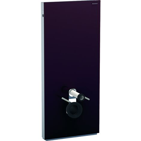 Geberit Monolith sanitary module for wall-mounted WC, 114cm, water connection at rear centre, with connection piece