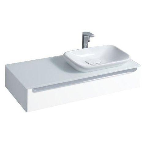 Geberit myDay lavabo empotrado 600x400mm, blanco con KeraTect, 245460 - 245460600