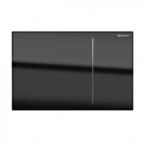 Geberit Omega 70 Dual Flush Plate for Furniture - Black Glass