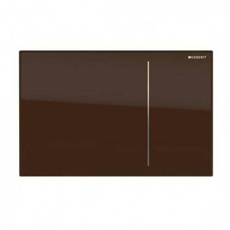Geberit Omega 70 Dual Flush Plate for Furniture - Umber Glass