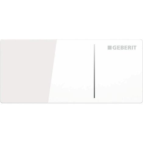 Geberit Omega 70 Dual Flush Plate for Furniture - White Glass