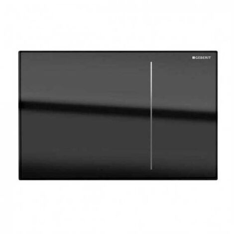 Geberit Omega 70 Dual Flush Plate for Solid Wall - Black Glass