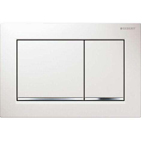 Geberit Omega30 Dual Flush Plate - Matt/Gloss Chrome