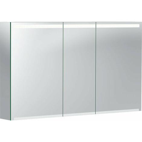 Geberit Opción armario con espejo con iluminación, tres puertas, ancho 120 cm, 500207001 - 500.207.00.1