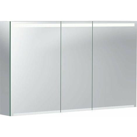 Geberit Option Spiegelschrank mit Beleuchtung, drei Türen, Breite 120 cm, 500207001 - 500.207.00.1