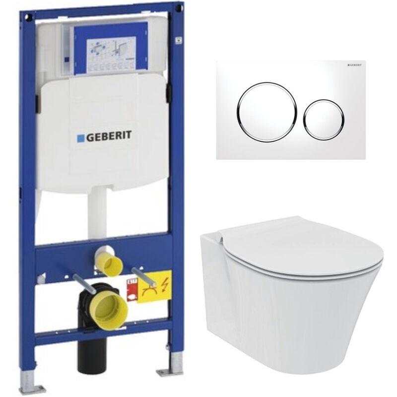 Welp Geberit Pack WC Geberit Duofix + Toilet bowl Ideal Standard Tesi VT-04