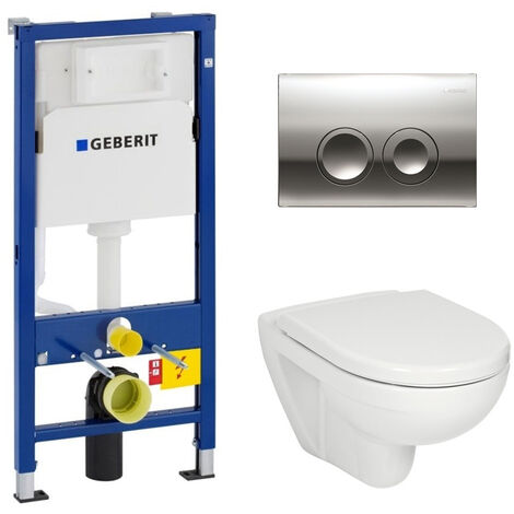Geberit Pack WC Geberit duofix UP100 + Cuvette Jika (groupe Roca-Laufen) + Plaque de commande Delta21 chrome
