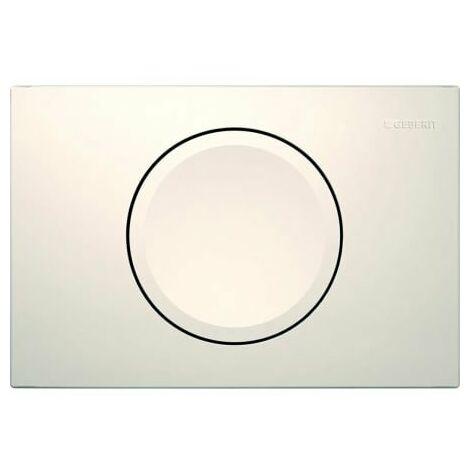 Geberit Plaque de commande Delta11 pour rinçage/arrêt du rinçage, Coloris: blanc-alpin - 115.120.11.1