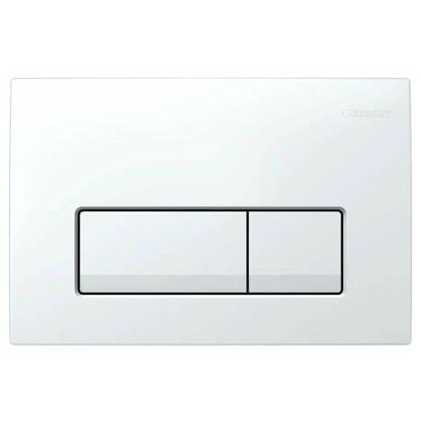 Geberit Plaque de commande Delta51 pour rinçage 2 volumes, Coloris: blanc-alpin - 115.105.11.1