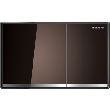 Geberit Plaque de commande Sigma60 pour rinçage 2 volumes, montage encastré, Coloris: ombrelle / miroir / chromé brillant - 115.640.SQ.1