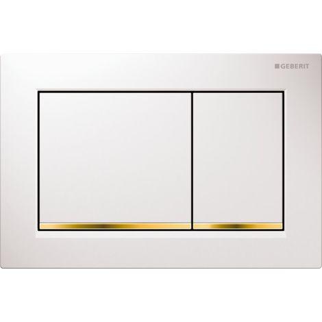 Geberit Plaque de déclenchement OMEGA30 GEBERIT, blanc doré (115.080.KK.1)