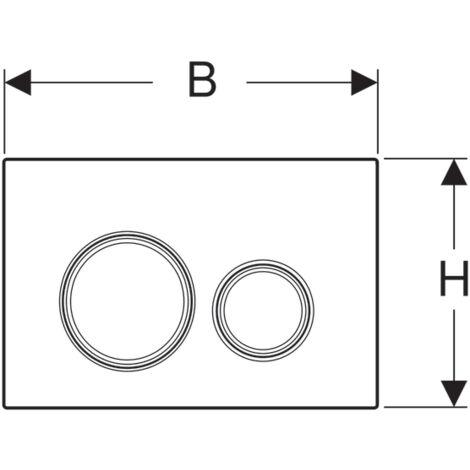 Geberit Plaque de déclenchement sigma 21, Sable (115.884.TG.1)