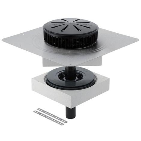 Geberit Pluvia Dachwassereinlauf für gedämmtes Dach, mit Anschlussblech, 14 l/s