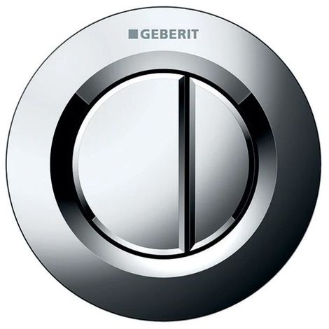 GEBERIT - Poussoir pneumatique à encastrer double touche chromé - 115942KA1