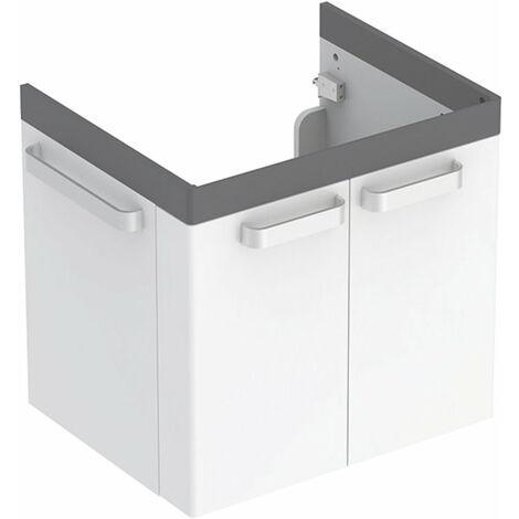 Geberit Renova Nr. 1 Unidad de lavabo Comfort, 650x620x525 mm, 808565, acabado grafito mate - 808565000