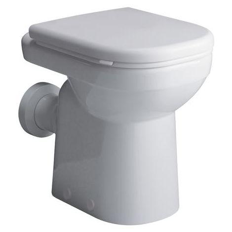 Geberit Renova Nr. 1 WC de lavado de confort, 6 l, de pie, 218500, color: Blanco, con KeraTect - 218500600