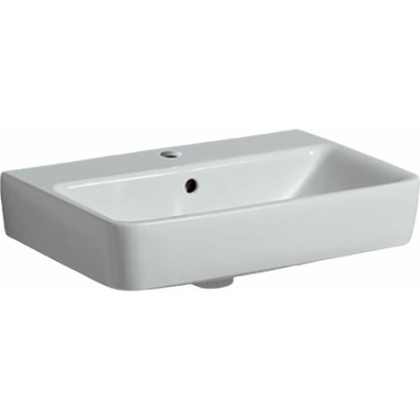 Geberit Renova Nr.1 Comprimo Nuevo Lavabo, 550x370 mm, 226155, color: Blanco, con KeraTect - 226155600
