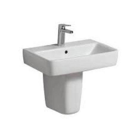 Geberit Renova Nr.1 Comprimo Nuevo Lavabo, 600x370 mm, 226160, color: Blanco, con KeraTect - 226160600