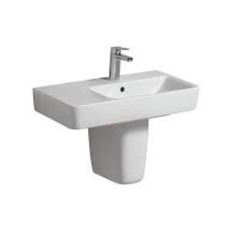 Geberit Renova Nr.1 Comprimo Nuevo Lavabo, 650x370 mm, espacio libre en el estante, 226265, color: Blanco - 226265000