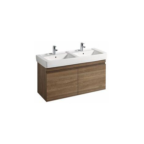 Geberit Renova Nr.1 Plan Meuble sous-lavabo, 869133, 1226x586x438mm, chêne nature foncé - 869133000