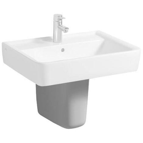 Geberit Renova Nr.1 Plan Semi-pedestal para lavabo de mano, color: Blanco, con KeraTect - 292150600