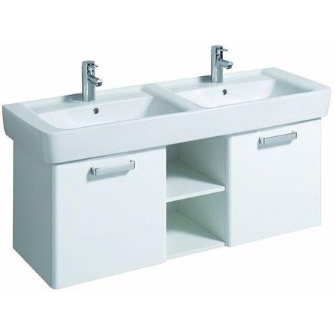 Geberit RENOVA Nr.1 PLAN Waschtischunterschrank 2 Auszüge & innenliegende  Schubladen Korpus weiß, Wenge Dekor Hochglanz