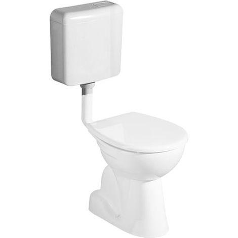 Geberit Renova Nr.1 Stand Lavadora de WC, salida vertical en el interior, color: Blanco, con KeraTect - 201011600